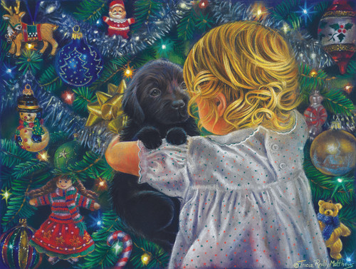 Puppy for Christmas - 500pc Jigsaw Puzzle by Sunsout
