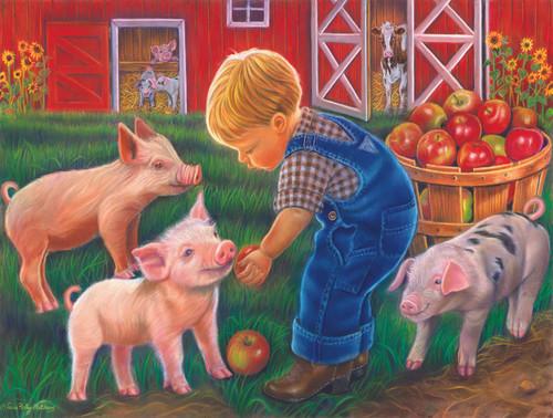 Farm Boy - 300pc Jigsaw Puzzle by Sunsout