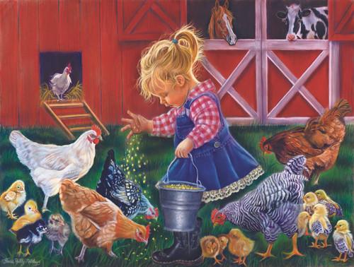 Little Farm Girl - 500pc Jigsaw Puzzle by Sunsout