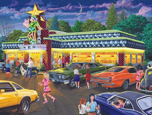 Star Diner - 500pc Jigsaw Puzzle by Sunsout