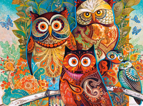 Owls - 2000pc By Castorland