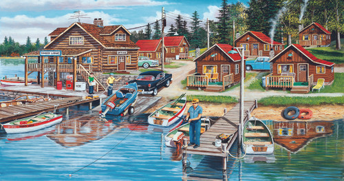 Timber Lodge - 300pc Jigsaw Puzzle by Sunsout
