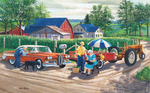 Doc's New Edsel - 300pc Jigsaw Puzzle by Sunsout