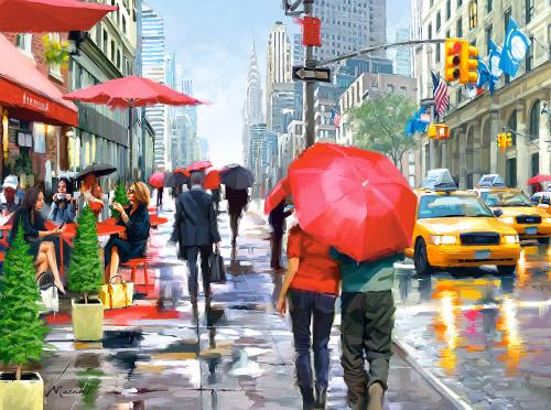 New York Cafe - 2000pc By Castorland