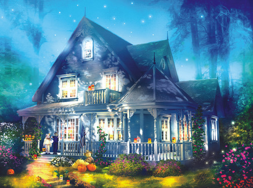 Halloween Lane House - 1000pc Jigsaw Puzzle by Sunsout (discon-25807)