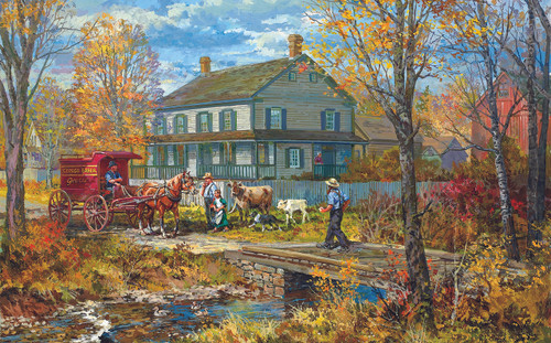 Autumn at the Schneider House - 300pc Jigsaw Puzzle by Sunsout