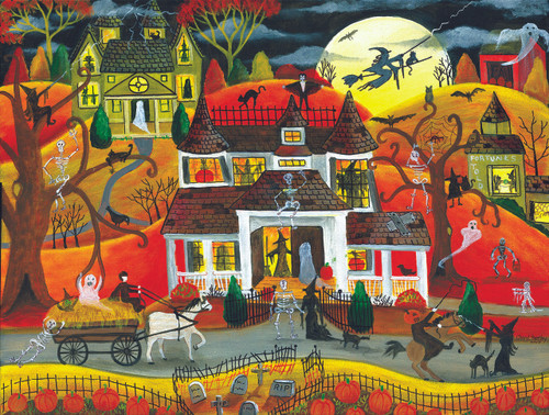 Halloween Fright Night - 500pc Jigsaw Puzzle by Sunsout