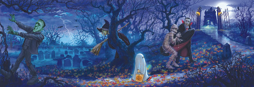 Halloween Scene - 500pc Jigsaw Puzzle by Sunsout