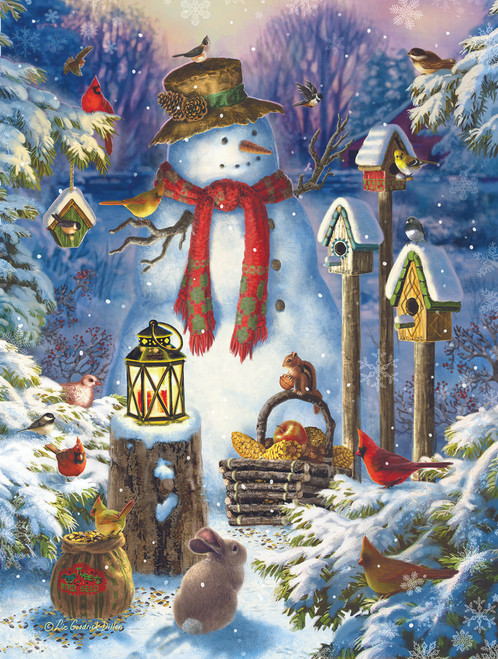 Wilderness Snowman - 500pc Jigsaw Puzzle by Sunsout