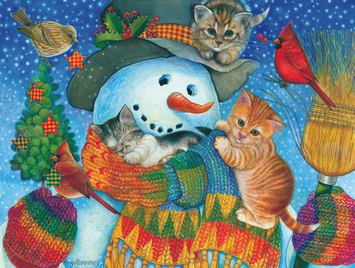 Snowman Cuddles - 500pc Jigsaw Puzzle by Sunsout
