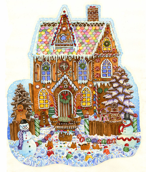 Gingerbread House - 1000pc Jigsaw Puzzle by Sunsout