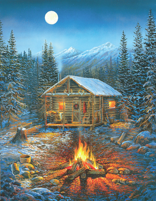 Holiday Cabin - 35pc Jigsaw Puzzle by Sunsout (discon-25871)