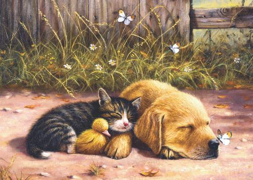 Sleepy Companions - 15pc Jigsaw Puzzle by Sunsout