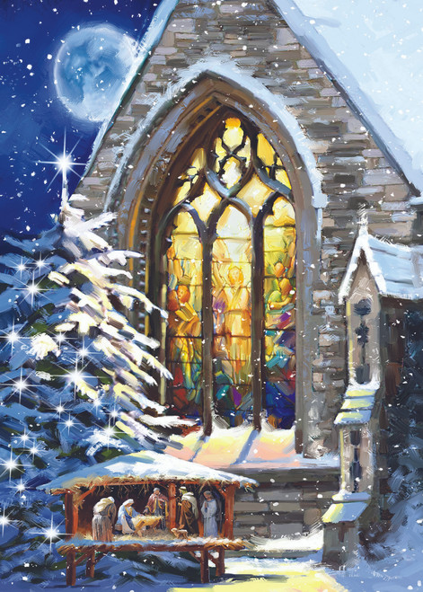 Church Manger - 15pc Jigsaw Puzzle by Sunsout (discon-25879)