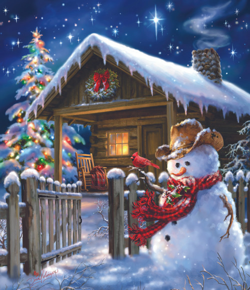 Cowboy Snowman - 25pc Jigsaw Puzzle by Sunsout