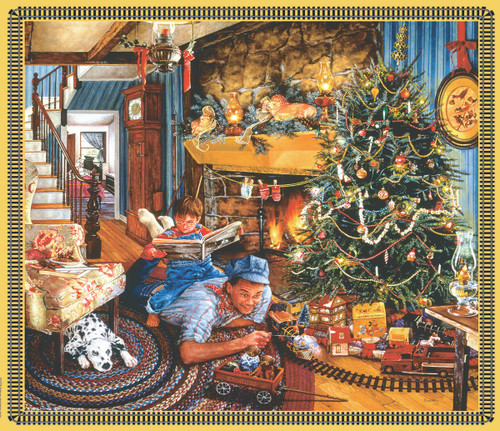 Christmas Train - 25pc Jigsaw Puzzle by Sunsout (discon-25882)