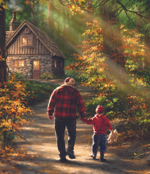 Path to the Cabin - 25pc Jigsaw Puzzle by Sunsout