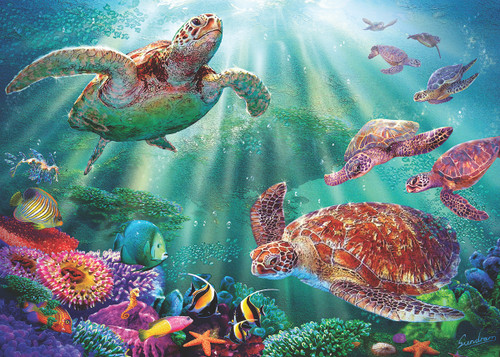 Turtle Bay - 15pc Jigsaw Puzzle by Sunsout (discon-25888)