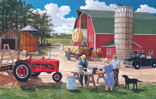 Lunchtime on the Farm - 30pc Jigsaw Puzzle by Sunsout