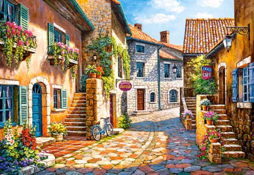 Rue de Village - 1000pc Jigsaw Puzzle By Castorland