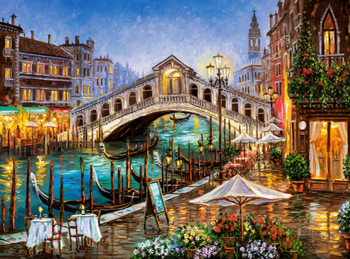 Grand Canal Bistro - 2000pc Jigsaw Puzzle By Castorland