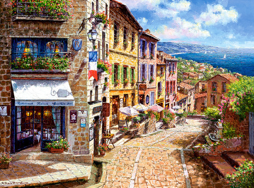 Afternoon in Nice - 3000pc Jigsaw Puzzle By Castorland