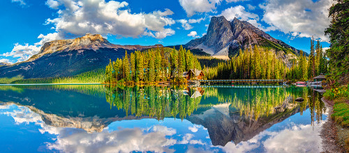 Emerald Lake - 600pc Jigsaw Puzzle By Castorland