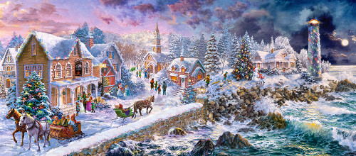 Holiday at Seaside - 600pc Jigsaw Puzzle By Castorland