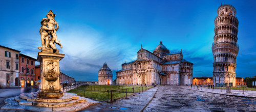 Pisa and Piazza dei Miracoli - 600pc Jigsaw Puzzle By Castorland