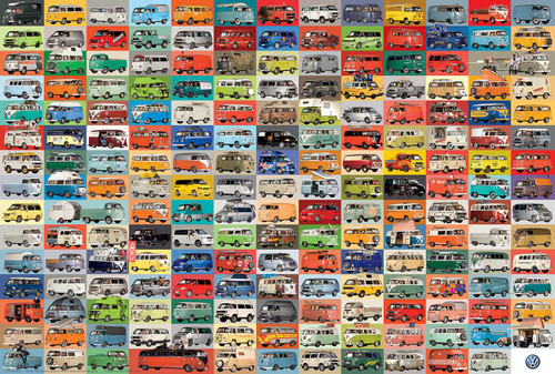 The VW Groovy Bus - 1000pc Jigsaw Puzzle By Eurographics