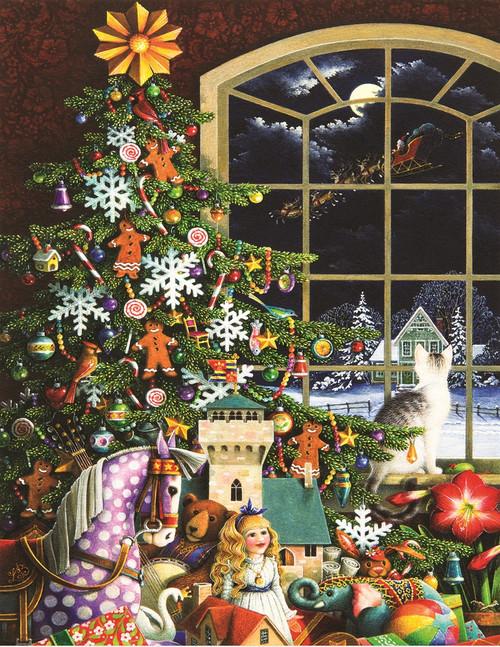 Santa's Visit - 500pc Jigsaw Puzzle By Springbok