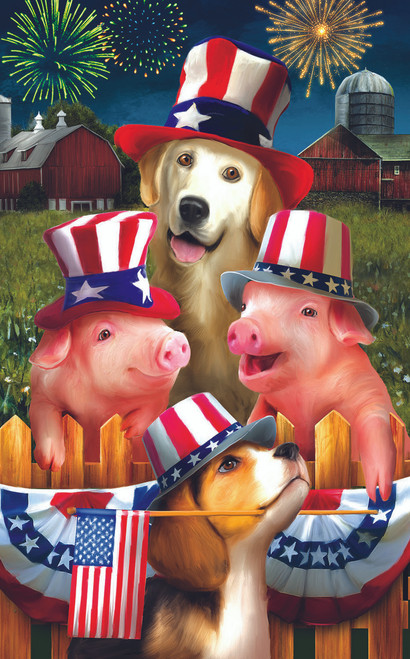 Fourth on the Farm - 300pc Large Format Jigsaw Puzzle By Sunsout