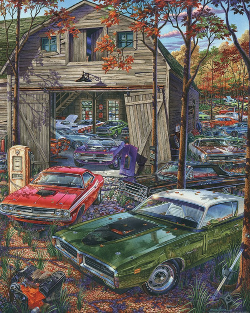 Cars on the Farm - 1000pc Jigsaw Puzzle by Vermont Christmas Company