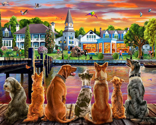 Dockside Dogs - 1000pc Jigsaw Puzzle by Vermont Christmas Company