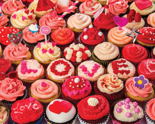 Cupcakes of Love - 1000pc Jigsaw Puzzle by Vermont Christmas Company