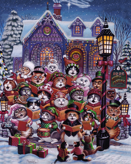 Purrfect Harmony - 1000pc Jigsaw Puzzle by Vermont Christmas Company