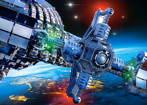 Futuristic Spaceship - 260pc Jigsaw Puzzle By Castorland
