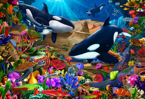Wondrous Ocean - 100pc Jigsaw Puzzle by Vermont Christmas Company