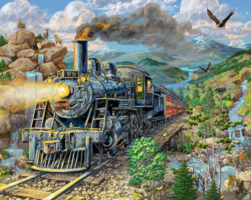 Big Horn Express - 1000pc Jigsaw Puzzle by Vermont Christmas Company