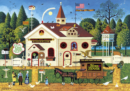 Charles Wysocki: The Bird House - 300pc Large Format Jigsaw Puzzle by Buffalo Games