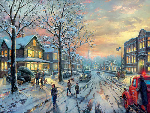 Thomas Kinkade: A Christmas Story - 300pc Oversized Jigsaw Puzzle by Ceaco (discon)