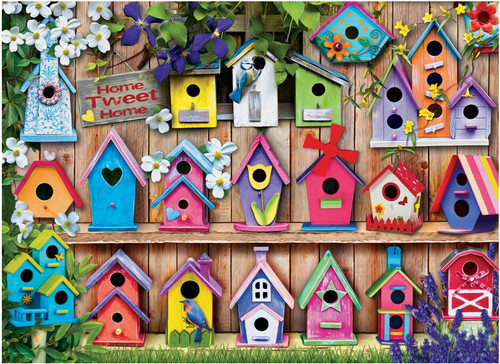 Birdhouses - 1000pc Jigsaw Puzzle by Eurographics