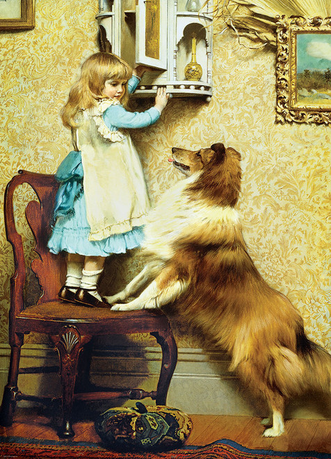A Little Girl and Her Sheltie - 1000pc Jigsaw Puzzle by Eurographics