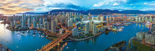Vancouver - 1000pc Panoramic Jigsaw Puzzle by Eurographics