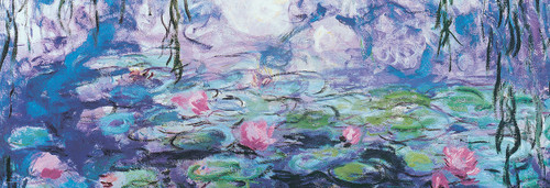 Monet: Waterlilies - 1000pc Panoramic Jigsaw Puzzle by Eurographics