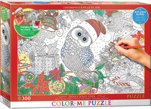 Holly Jolly Owl - 300pc Jigsaw Puzzle by Eurographics