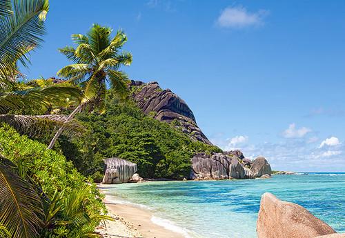 Hard Jigsaw Puzzles - Tropical Beach, Seychelles