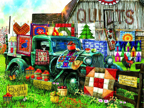 Quilts for Sale - 1000pc Jigsaw Puzzle by Sunsout