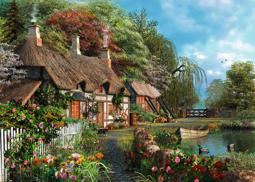 Cottage on a Lake - 300pc Large Format by Ravensburger