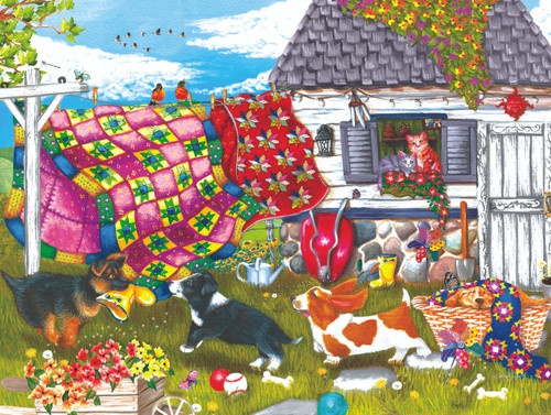 Backyard Pups - 500pc Jigsaw Puzzle By Sunsout